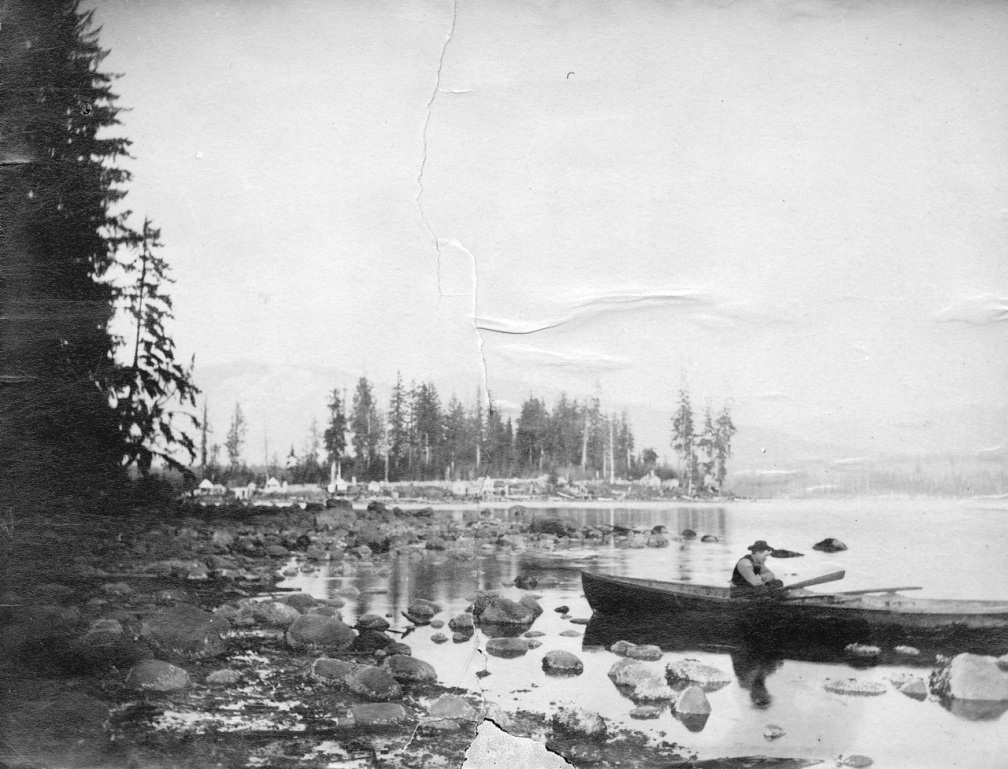 1885 Wat P38 - [View of Brockton Point from the foot of Thurlow Street]  L A Hamilton