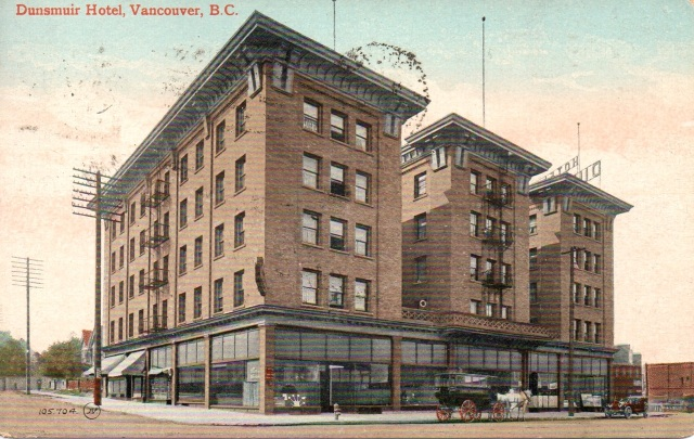 1910. Valentine & Sons. Dunsmuir Hotel 502 Dunsmuir (at Richards)