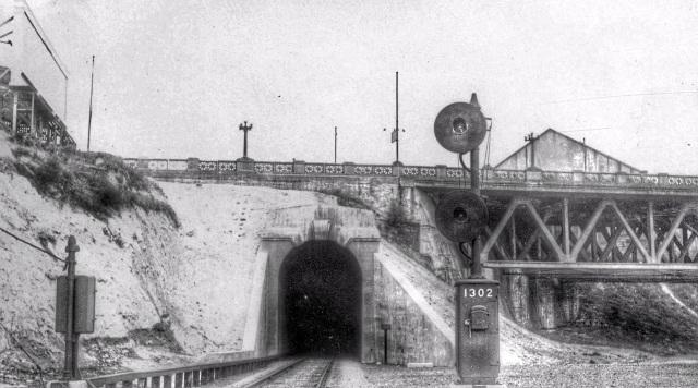 CVA 152-6.12. Dunsmuir tunnel false creek east portal, mile 130.2 Cascade Subdivision. 1930-33.
