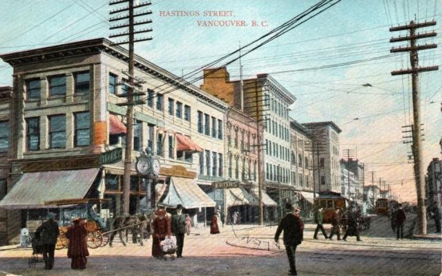 Postcard showing NE Corner Hastings at Granville. W. G. MacFarlane, publisher, ca1907. Author's file.