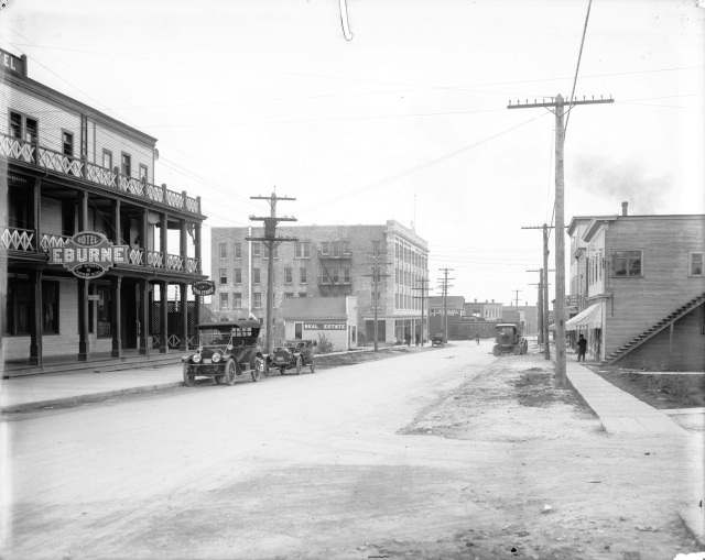 191- LGN 994 - [View of Hudson Street, looking south toward the Eburne Railway Station]