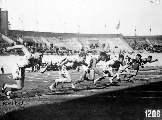 CVA 99-3633 - Percy Williams in 100 Metre Final Olympic Games 1928 Stuart Thomson