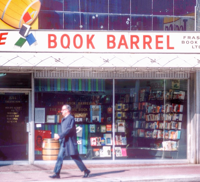 1969 CVA 780-27 - %22The Book Barrel,%22 Theatre Row, [at 891 Granville Street]