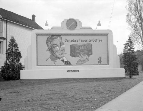 1940-48 CVA 1184-2078 - [Billboard for Nabob coffee] Jack Lindsay