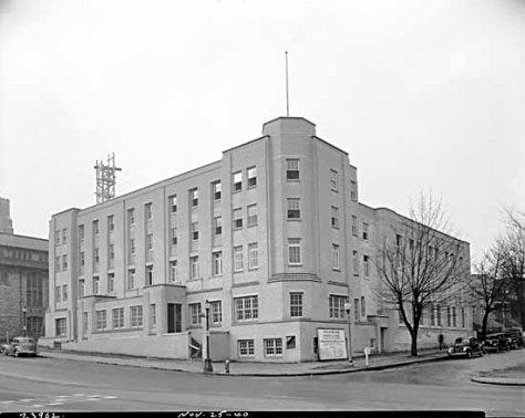 VPL 15848: YMCA at Burrard and Barclay, Frank Leonard Photo, 1940.