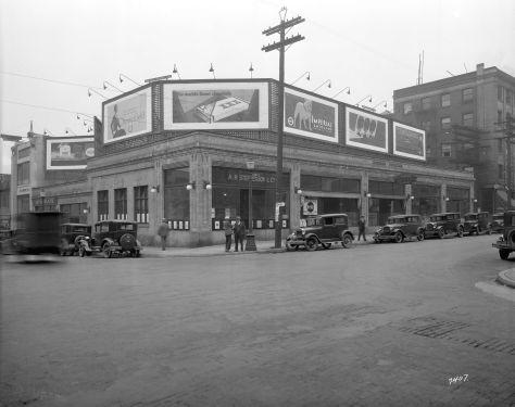 "CVA Bu N510 ""Hamber  (sic) Bldg Corner of Dunsmuir and Howe Streets"", WJ Moore photo, 193-"