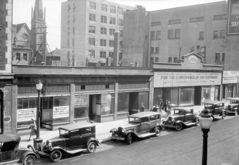 CVA Str N24.1: 600 Block of Seymour Prior to Being Demolished for a Parking Lot, 1932.
