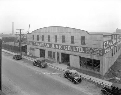 CVA 99-4607 Canadian Junk Company Ltd. Office and Main Warehouse at 250 Prior St., Stuart Thomson photo, 1934.
