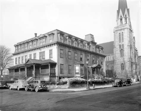 CVA - Bu n201 - Demolition of St. Ann's Academy, 1947.