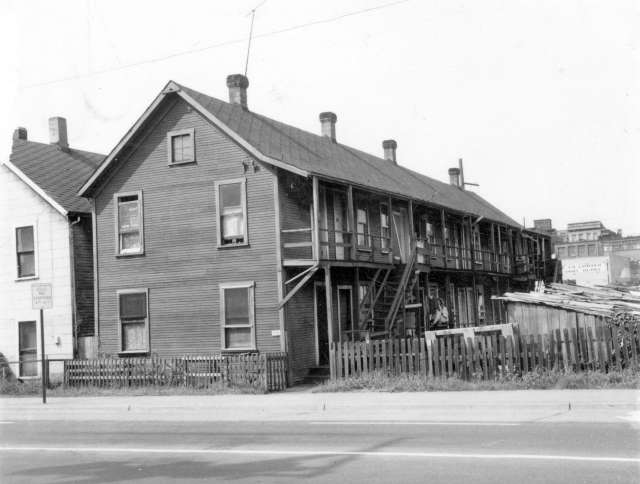 CVA 203-28-259 Prior Street Choe Doely Gam Cabins (from front; facing north), 1968.