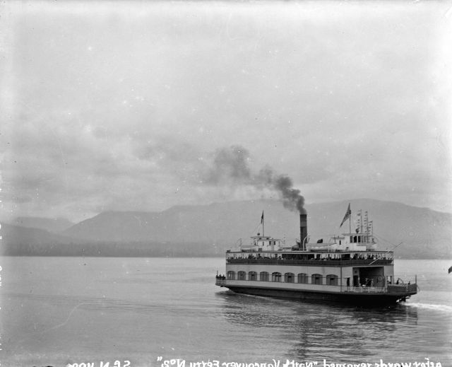 "CVA SGN-1100.2 ""North Vancouver ferry St. George (later Ferry No. 2) in Burrard Inlet"", 1904"