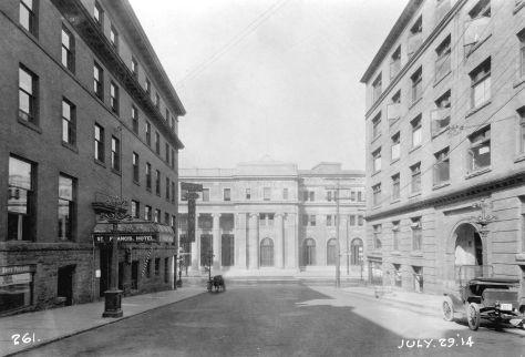 "CVA 152-1.067 ""Construction progress photograph of the third CPR station"", 1914."