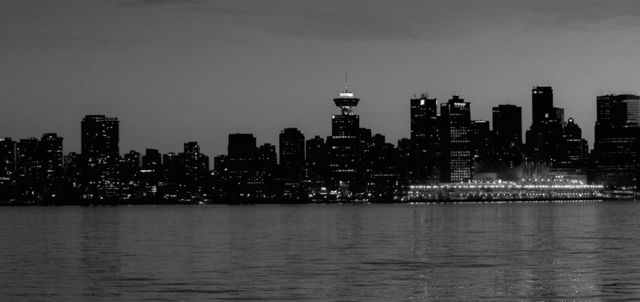 Vancouver skyline image made from North Vancouver (Lonsdale Quay), 2012. Author's photo.