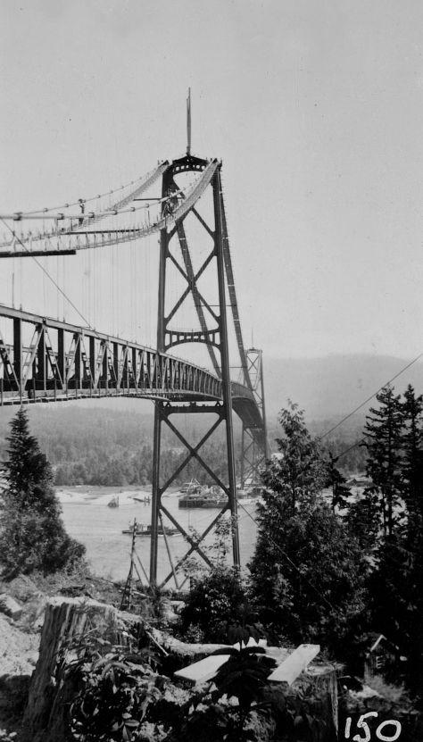 "CVA Br-P81-5 ""Lions Gate Bridge Construction"", ca 1938."