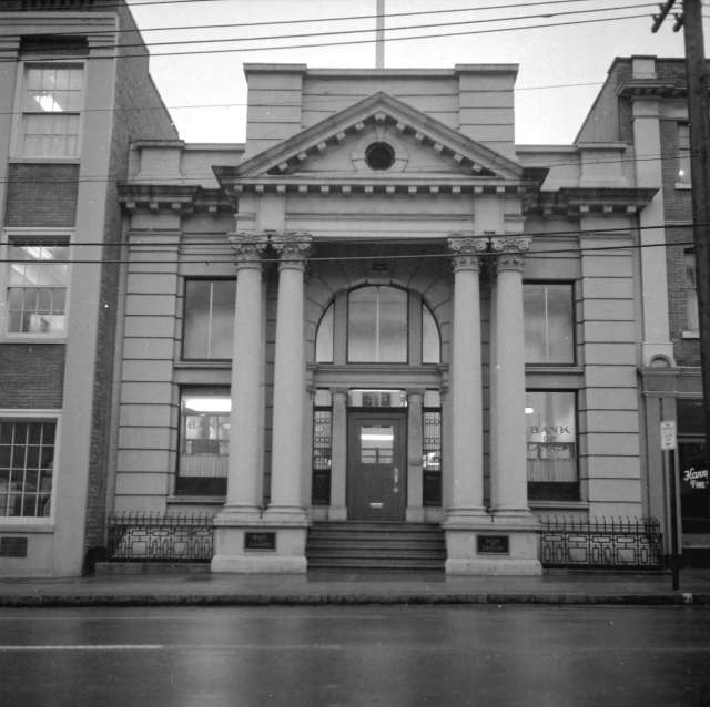 "CVA 392-1191: ""View if British Columbia Permanent Loan Company Building at 33 West Pender Street, ca 1965."