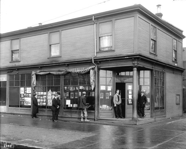 CVA 99-236 - Shop - Stuart Thomson, 501 Georgia Street. 1912. S. Thomson photo.