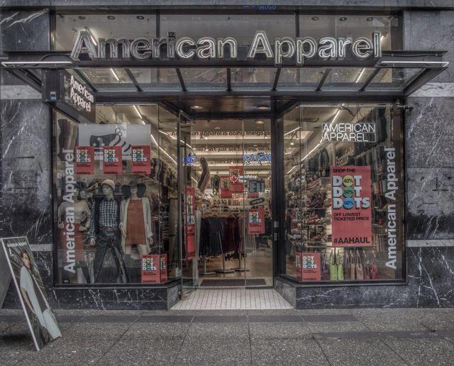 American Apparel, 872 Granville Street, 2015. Author's Photo.
