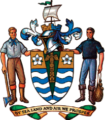 Current Vancouver coat of arms. Adopted 1969.