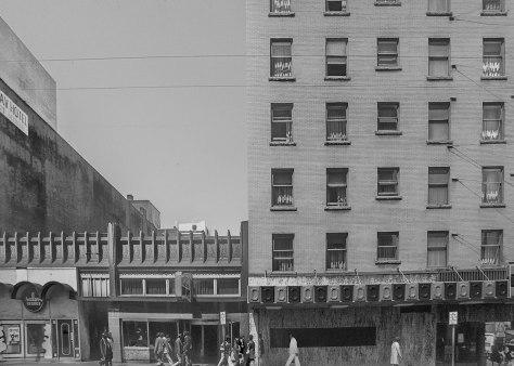 CVA 778-420 - 600 Seymour Street west side 15-619 Seymour Street, 1974.