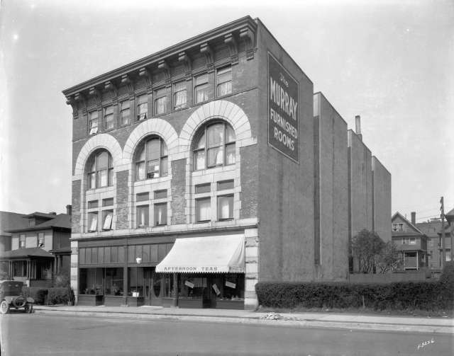CVA Hot N6 - [Murray Hotel, 1119 Hornby Street]. ca 1925. W.J. Moore photo.
