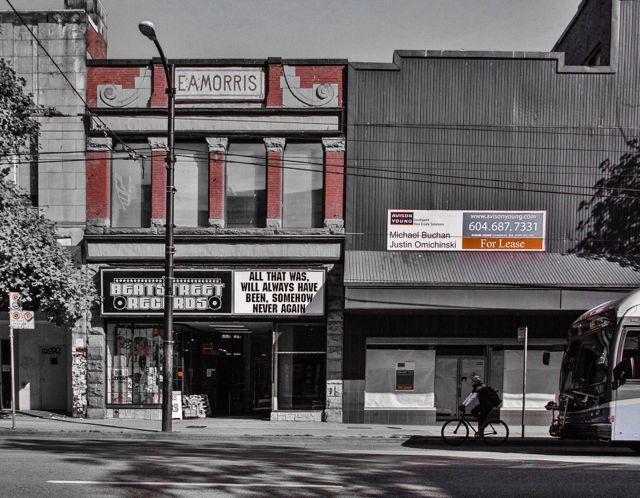 400 Block of Hastings St. North side. ca2013. Author's photo.