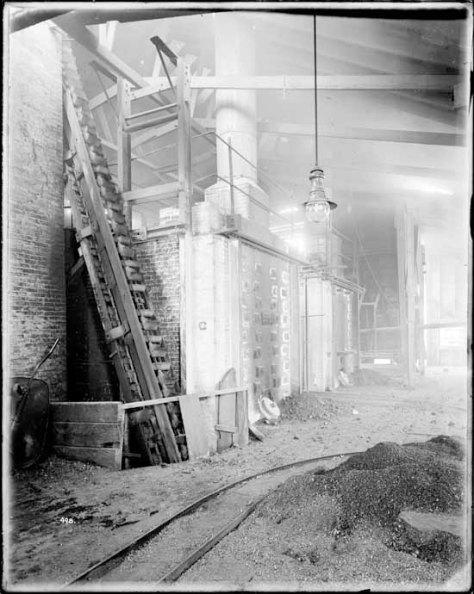 VPL 20204 Interior of Van Gas Co Gas Works on Keefer St. 1917 Dominon photo.