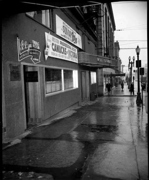 VPL 46375 Hicks Ticket Bureau. 1955, Province photo.