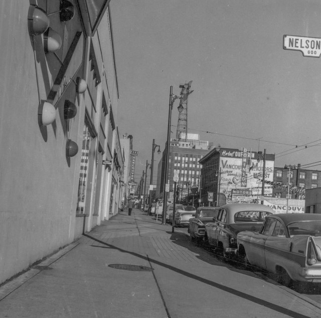 CVA 772-18 - [Seymour St. at Nelson St., looking south], 1961.