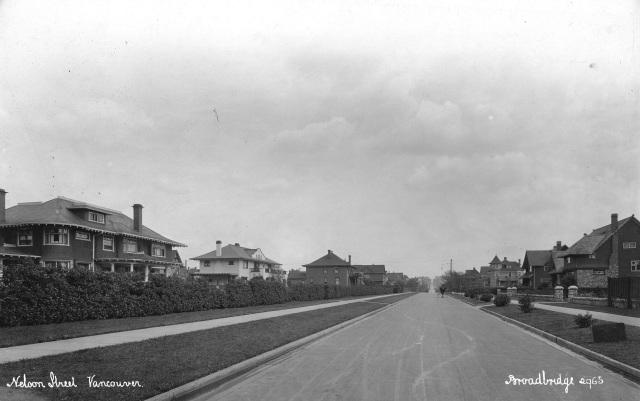 Str P181.2 - Nelson Street Vancouver, ca1915,  Richard Broadbridge photo.