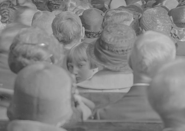 Detail/crop of CVA 99-5233 - [Unidentified Church Congregation], 192- , Stuart Thomson photo.