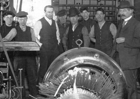 Detail of CVA: Misc P16 - [Interior of R. Hoffmeister's factory at 1271 Granville Street] ca 1906