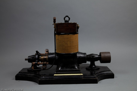 Hoffmeister's first electrical generator built for Vancouver. Courtesy Museum of Vancouver. http://openmov.museumofvancouver.ca/object/h201241/%5Bfield_acquisition_object_name-raw%5D
