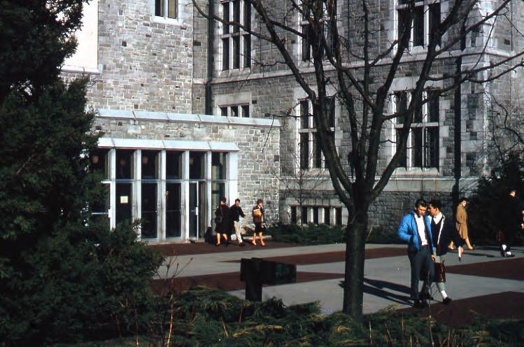 UBC Archives. 1965. College Sedgewick Library entrance Main Library.