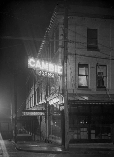 LGN 1185.4 - [Illuminated sigs for Cambie Rooms] 191- . BCER  photo.