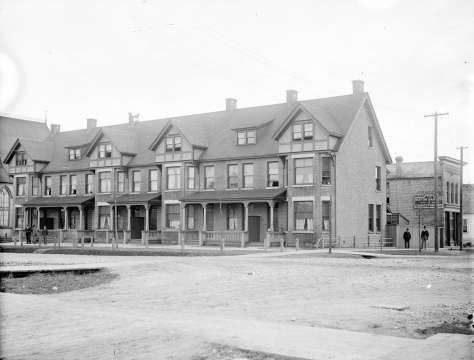 CVA: LGN 482 - [Buildings at southeast corner of Georgia and Seymour Streets], 1890?