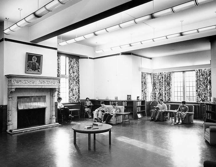 UBC Archives. ca 1953. Sedgewick Memorial Reading Room (in Main Library).