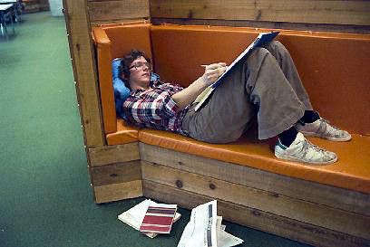 UBC Archives. 1978. Student in Sedgewick Library.
