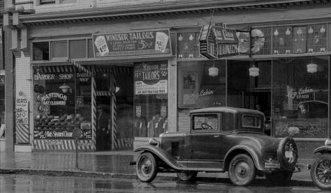 Detail of CVA 99-3884 - Windsor Hotel [at 52 East Hastings Street]. 1931. Stuart Thomson photo.