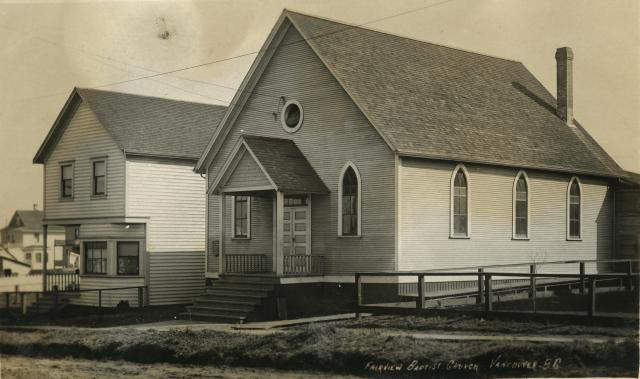 Fairview Baptist Church, Vancouver, B.C. University of British Columbia. Library. Rare Books and Special Collections. Uno Langmann Family Collection of B.C. Photographs UL_1624_03_0259A
