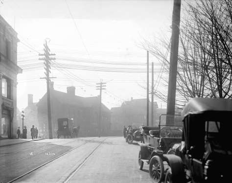 LGN 1233 - [View of Cambie Street, looking south from near Pender Street] 1914. BCER photo.