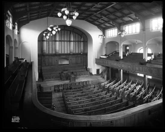 VPL 23402 Interior FBC Nov 11, 1931 (after reconstruction of the sanctuary). Dominion photo.