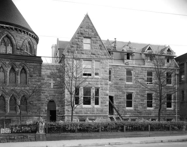 CVA - CVA 99-4671 - New [unidentified] rectory 1934 (Oct) Stuart Thomson photo. (This rectory is certainly identifiable. It is that of Holy Rosary Cathedral).