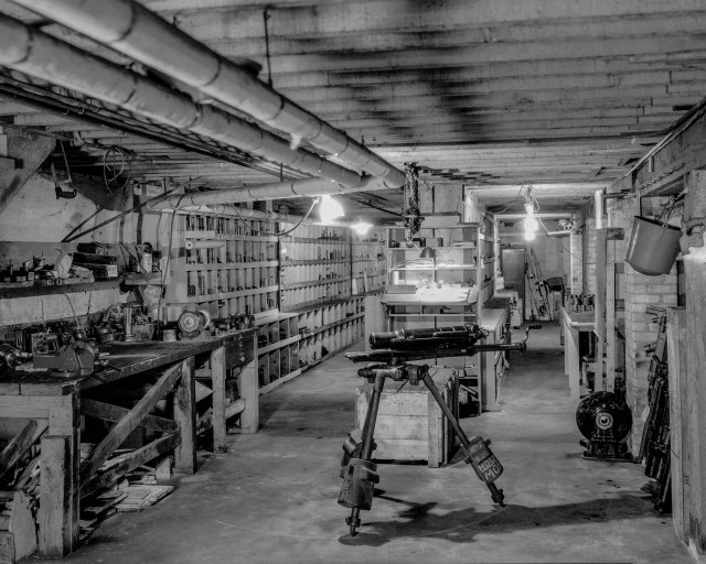 CVA 99-4677 - Basement of B.C. Equipment [at 551 Howe Street] 1934 Stuart Thomson photo