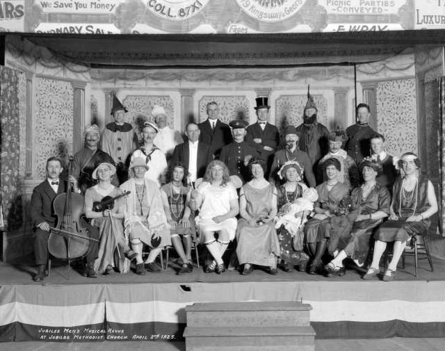 CVA 99-3535 - Jubilee Men's Musical Revue at Jubilee Methodist Church 1925 Stuart Thomson photo.