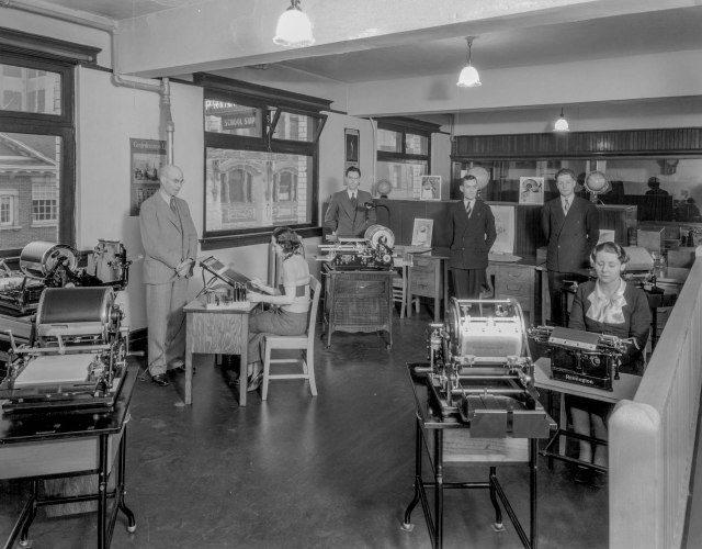 CVA 99-4860 - Clarke and Stuart [Company Limited office at 550 Seymour Street] 1936 Stuart Thomson photo.