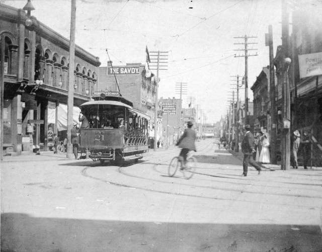 CVA - Str P209 - [View of Cordova Street from the corner of Cambie Street] 1899.