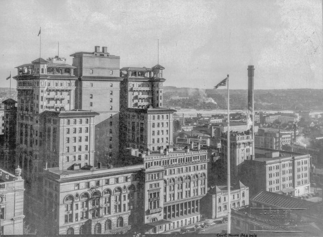 CVA - Van Sc P63.5 - [Looking southeast from Howe Street and Georgia Street] 1929 Leonard J Frank photo.