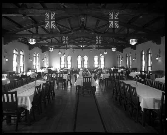vpl 24915 Quadra Club dining room interior 1939 Dominion Photo