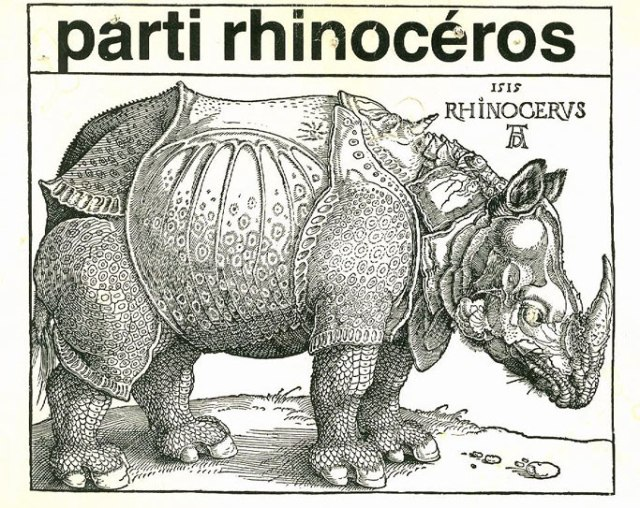 Rhinocerous Party logo.