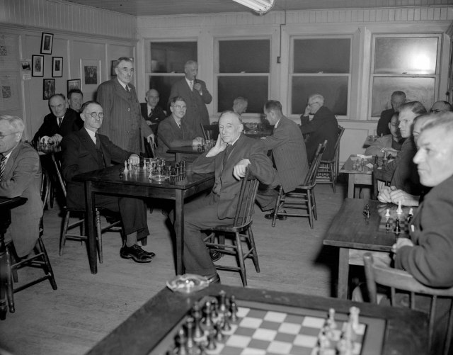 CVA 1184-2331 - [Vancouver Chess Club tournament] 1948? Jack Lindsay photo.